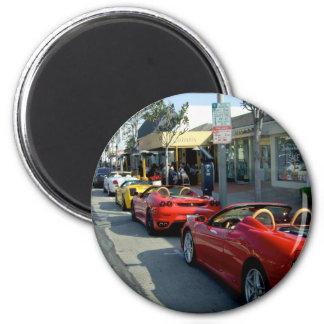 Supercars de Beverly Hills Imán Redondo 5 Cm
