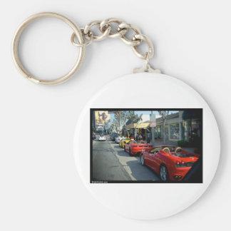 Supercars de Beverly Hills Llavero Redondo Tipo Pin