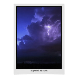 Supercell at Dusk Poster