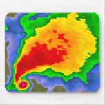 Supercell en el radar Mousepad para el meteorólogo Tapete De Ratones
