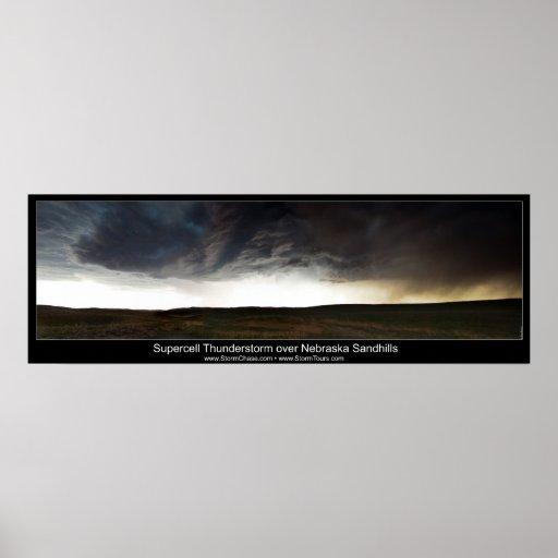 Supercell sobre Nebraska Sandhills Impresiones