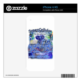 SuperCellular & The Microheroes! iPhone 4 Decal