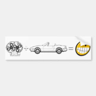 Supercharger + MX-5 = Fun bumper sticker Car Bumper Sticker