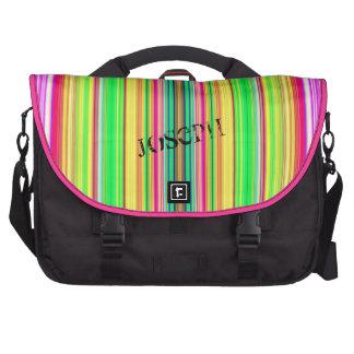 Supercolored Vertical Stripes Laptop Bag Template