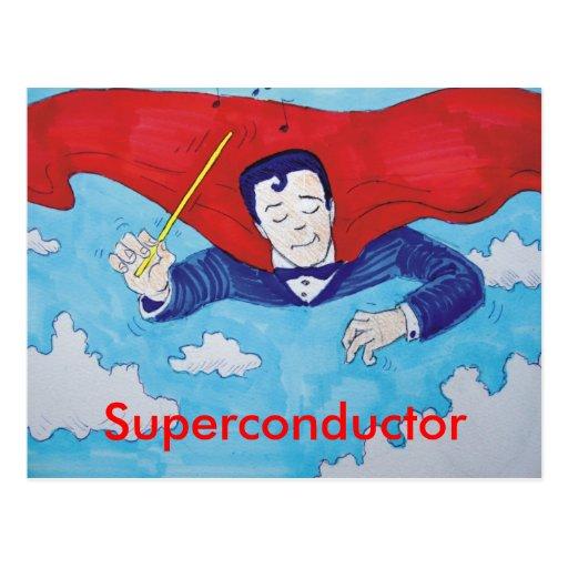 Superconductor cartoon postcard