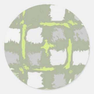 supercoolsquaresjpg classic round sticker
