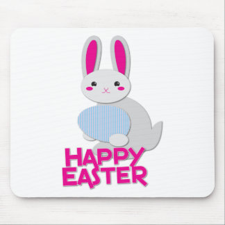 supercute bunny easter with words mouse pad