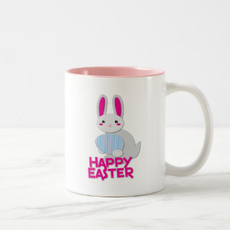 supercute bunny easter with words mugs