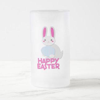 supercute bunny easter with words coffee mug