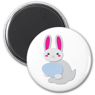 supercute easter bunny 2 inch round magnet