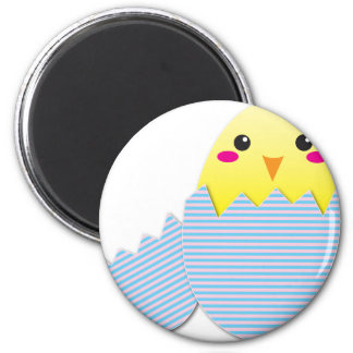 Supercute egg chick 2 inch round magnet