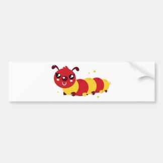 SUPERCUTE MANGA KIDS WORM Painted Edition Bumper Sticker
