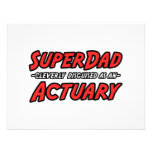 SuperDad...Actuary Personalized Announcement