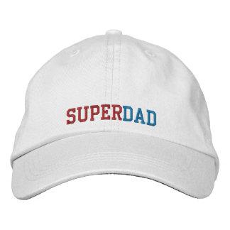 Superdad bordó el casquillo gorras de béisbol bordadas
