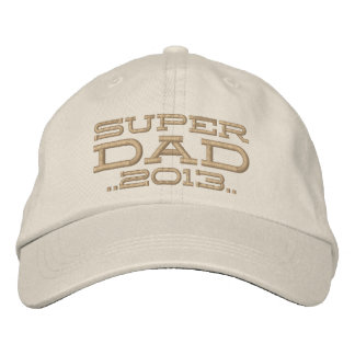 Superdad Edit Year SUPER DAD Embroidered Hat