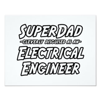 SuperDad...Electrical Engineer Personalized Invites