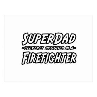 SuperDad Firefighter Post Card
