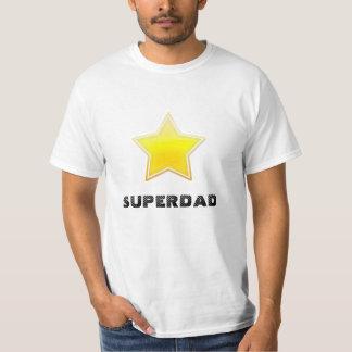 Superdad golden star shirt
