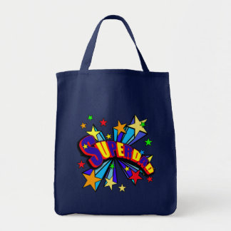 Superdad with Comic Book Style Tote Bag