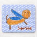 ¡Superdog! Cojín de ratón (de Maggie) Tapete De Ratón