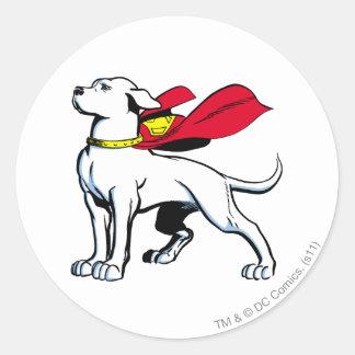 Superdog Krypto Pegatina Redonda