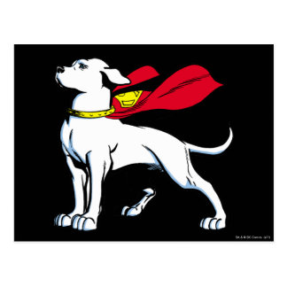 Superdog Krypto Postcard