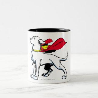 Superdog Krypto Taza De Café De Dos Colores