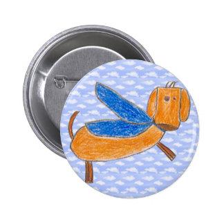 Superdog (Maggie) button