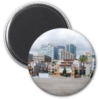 SuperDowntownPanorama2 2 Inch Round Magnet