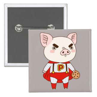 Superduper Piggy 2 Inch Square Button