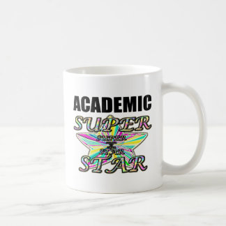 Superestrella académica taza de café