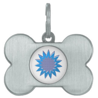 Superestrella de BlueSTAR: REGALO elegante para to Placa De Nombre De Mascota
