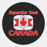 Superestrella de Canadá Etiquetas Redondas