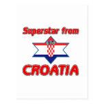 Superestrella de Croacia Postales