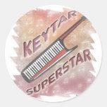 Superestrella de Keytar Etiqueta Redonda