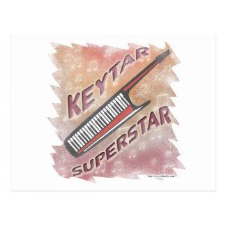 Superestrella de Keytar Tarjetas Postales