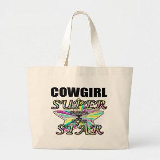 Superestrella de la vaquera bolsa