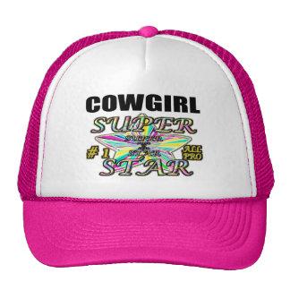 Superestrella de la vaquera gorro de camionero