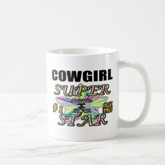 Superestrella de la vaquera taza