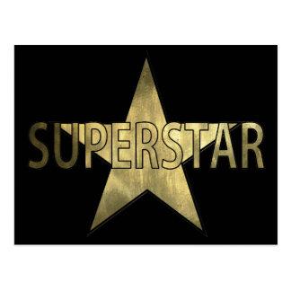 Superestrella de oro de la estrella postal