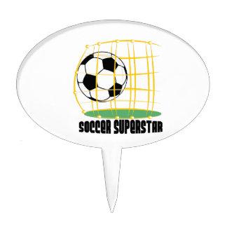 Superestrella del fútbol decoración para tarta
