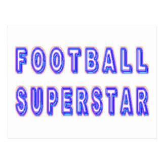 Superestrella del fútbol postal