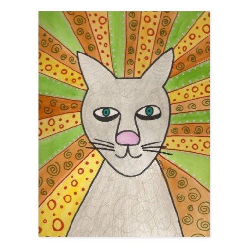 Superestrella del gato de Jesús Postales