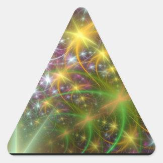 Superestrella Pegatina Triangular