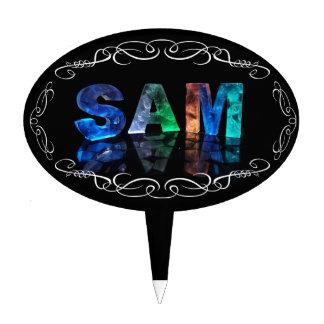Superestrella Sam - nombre en las luces (fotografí Decoraciones De Tartas