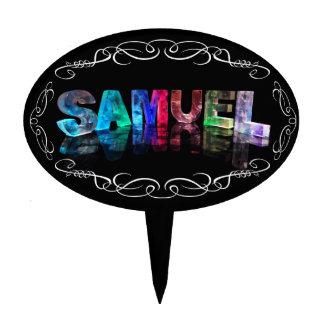 Superestrella Samuel - nombre en las luces (fotogr Figura De Tarta
