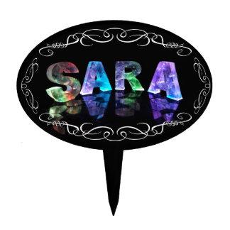 Superestrella Sara - nombre en las luces (fotograf Palillos De Tarta