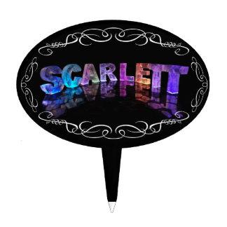 Superestrella Scarlett - nombre en las luces (foto Decoración Para Tarta