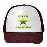 Superestrella verde #1 gorras