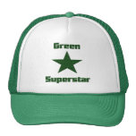 Superestrella verde #2 gorras